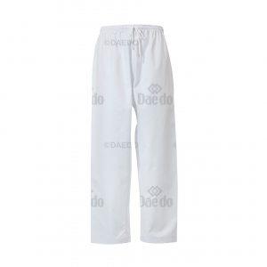 TA 1070 ΠΑΝΤΕΛΟΝΙ DAEDO   Λευκό παντελόνι και εξαιρετικά φαρδύ με λάστιχο στη μέση. Ύφασμα ριγωτό.Σύνθεση: 65% πολυεστέρας, 35% βαμβάκι.