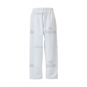 TA 1073 ΠΑΝΤΕΛΟΝΙ CAPOEIRA   Λευκό παντελόνι, με λάστιχο στη μέση και θηλυκάκια για να περαστεί ζώνη. Απλό ύφασμα.Σύνθεση: 65% πολυεστέρας, 35% βαμβάκι.