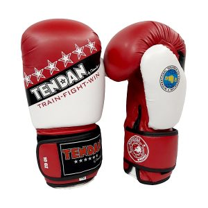 "GLOVES I.T.F. PU 10oz APPROVED ""STARS"" RED 